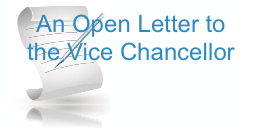 Open Letter to the Vice Chancellor